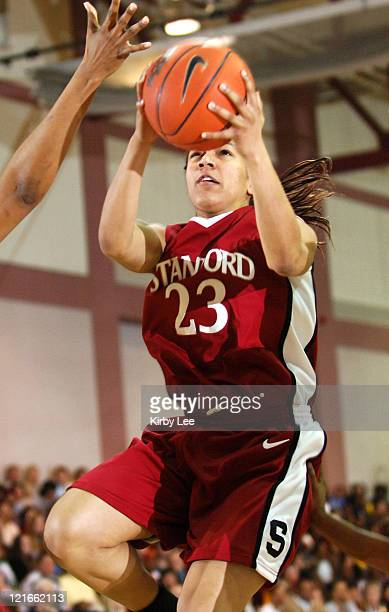 Stanford freshman guard Rosalyn GoldOnwude drives to the basket during 7869 victory over USC in Pacific10 Conference women's basketball game at the...