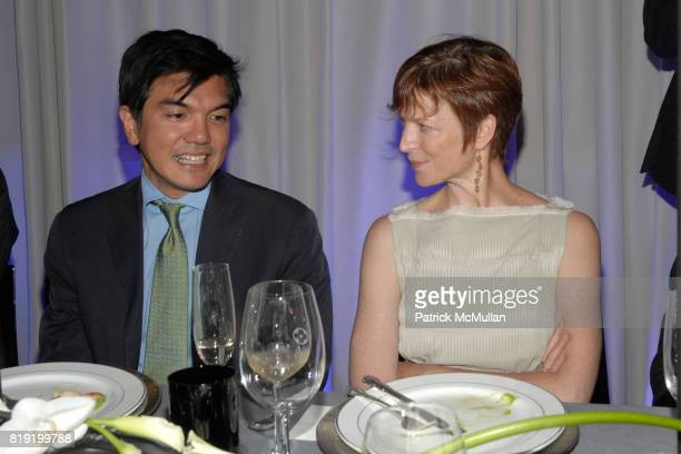 Stanford Makishi and Lisa Rinehart attend Salon de Louis Vuitton honoring Mikhail Baryshnikov at Louis Vuitton Maison on July 6 2010 in New York City