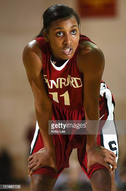 Stanford sophomore guard Candice Wiggins during 7869 victory over USC in Pacific10 Conference women's basketball game at the Lyon Center in Los...