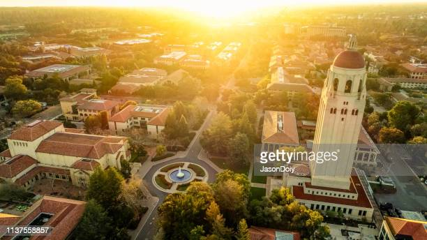 stanford university at dawn - santa clara county california stock pictures, royalty-free photos & images