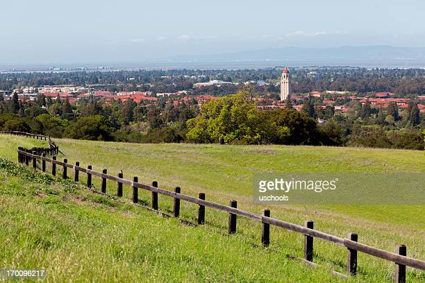 stanford university, hoover tower, palo alto and the south bay - palo alto stock pictures, royalty-free photos & images