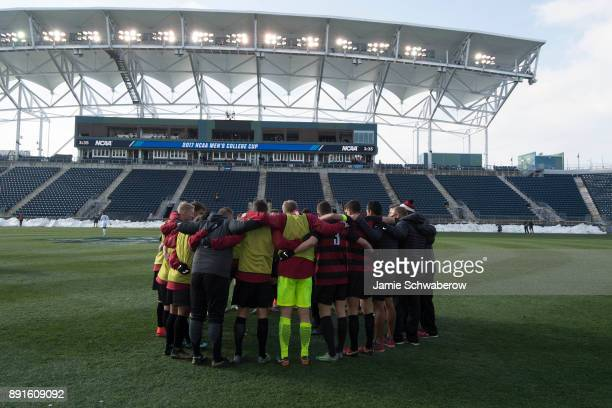 Stanford University is introduced prior to the Division I Men's Soccer Championship held at Talen Energy Stadium on December 10 2017 in Philadelphia...