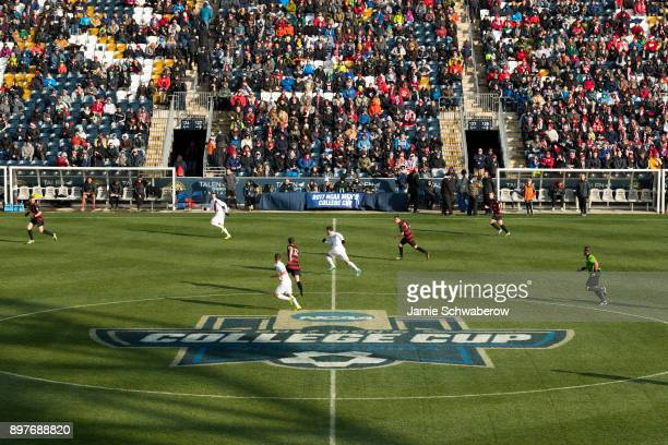 Stanford University takes on Indiana University during the Division I Men's Soccer Championship held at Talen Energy Stadium on December 10 2017 in...