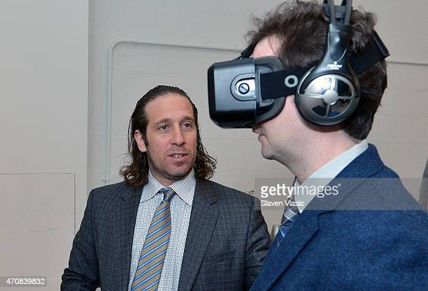 Stanford Virtual Human Interaction Lab Founder Jeremy Bailenson attends Stanford University's Virtual Human Interaction Lab Experience during the...