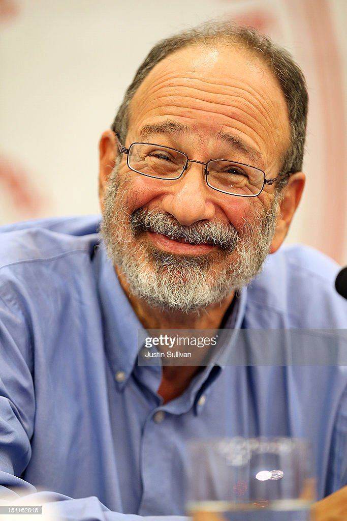 Stanford visiting professor Alvin Roth smiles during a press conference announcing his Nobel Prize in economics on October 15, 2012 in Stanford, California. Americans Alvin Roth and Lloyd Shapley were awarded the prize for their work on market design and matching theory.