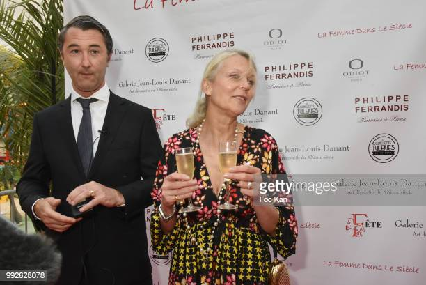 Stanislas Fougeron and Helene de Yougoslavie Attend 'La Femme Dans Le Siecle' Dinner on July 5 2018 in Paris France