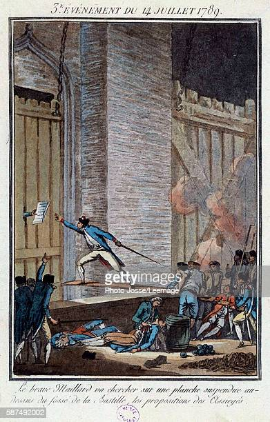 Stanislas Marie Maillard at the storming of the Bastille on the 14th July 1789 receiving the proposals of the besieged inmates in the prison