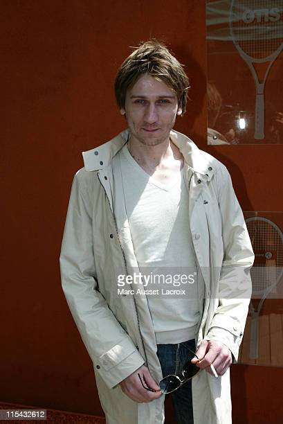 Stanislas Merhar arrives in the 'Village' the VIP area of the French Open at Roland Garros arena in Paris France on May 31 2007