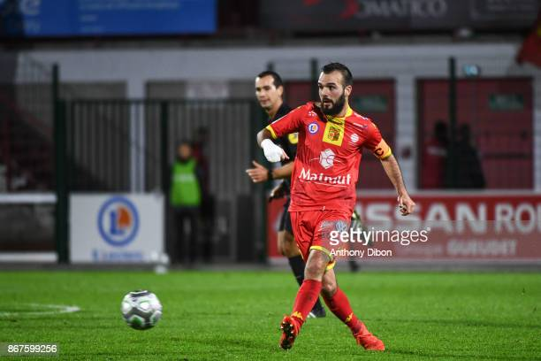 Stanislas Oliveira of Quevilly Rouen during the Ligue 2 match between Quevilly Rouen and Le Havre on October 27 2017 in Rouen France