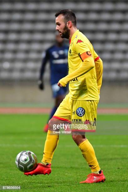 Stanislas Oliveira of Quevilly Rouen Metropole during the Ligue 2 match between Paris FC and Quevilly Rouen Metropole at Stade Charlety on November...