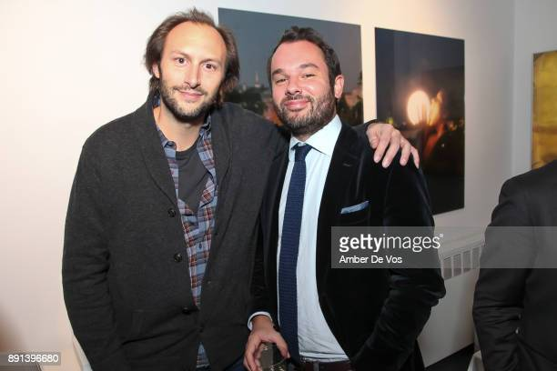 Stanislas Theirry and Antoine Wollenweber attend the Opening Reception for Eva Petric at Galerie Mourlot on December 12 2017 in New York City