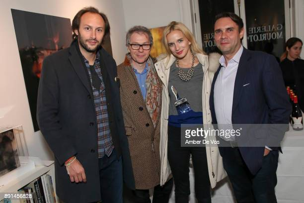 Stanislas Thierry JC Agid Kristin Simmons and Eric Mourlot attend the Opening Reception for Eva Petric at Galerie Mourlot on December 12 2017 in New...