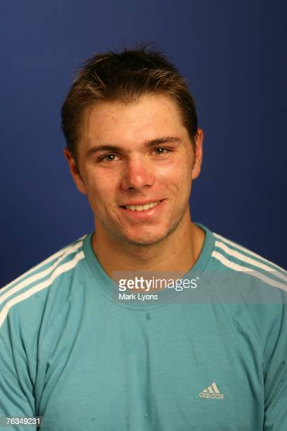 Stanislas Wawrinka poses for his 2007 ATP Portrait on August 12 2007 at the Lindner Family Tennis Center in Cincinnati Ohio