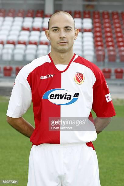Stanislav Angelov poses during the Bundesliga first Team Presentation of FC Energie Cottbus on July 14 in Cottbus Germany