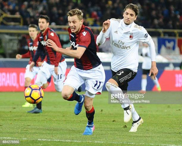 Stanislav Krejci of Bologna FC in action during the Serie A match between Bologna FC and AC Milan at Stadio Renato Dall'Ara on February 8 2017 in...