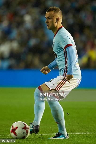 Stanislav Lobotka of Celta de Vigo in action during the Copa del Rey Round of 16 first Leg match between Celta de Vigo and FC Barcelona at Estadio de...