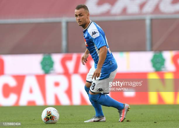 Stanislav Lobotka of Napoli during the Serie A match between Genoa CFC and SSC Napoli at Stadio Luigi Ferraris on July 8 2020 in Genoa Italy