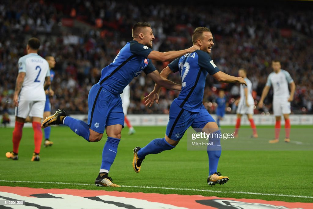 England v Slovakia - FIFA 2018 World Cup Qualifier : News Photo