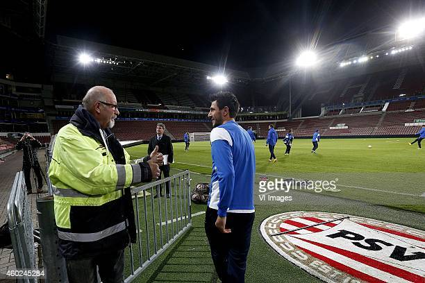 Stanislav Manolev of Dinamo Moscow during a training session of Dinamo Moscow prior to the Europa League match between PSV Eindhoven and Dinamo...