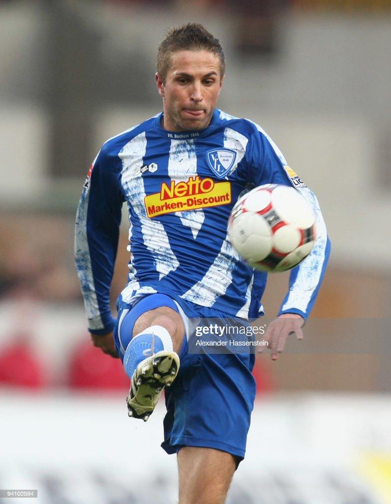 Stanislav Sestak of Bochum runs with the ball during the Bundesliga match between VfB Stuttgart and VfL Bochum at Mercedes-Benz Arena on December 5, 2009 in Stuttgart, Germany.