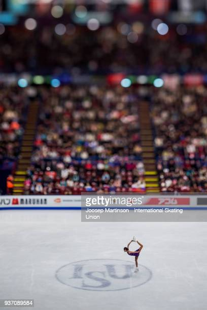 Stanislava Konstantinova of Russia competes in the Ladies Free Skating during day three of the World Figure Skating Championships at Mediolanum Forum...