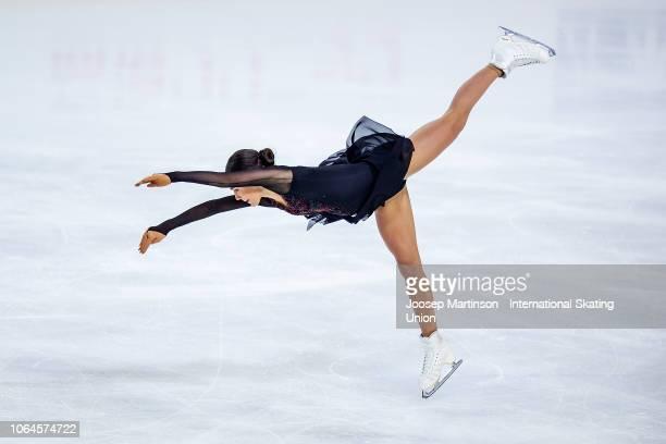 Stanislava Konstantinova of Russia competes in the Ladies Short Program during day 1 of the ISU Grand Prix of Figure Skating Internationaux de France...
