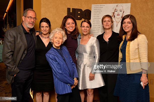 Stanley Buchthal Amy Hobby Amy Greene Liz Garbus Lili Taylor Anne Carey and Nancy Abraham attend HBO's Love Marilyn New York Screening at HBO Theater...