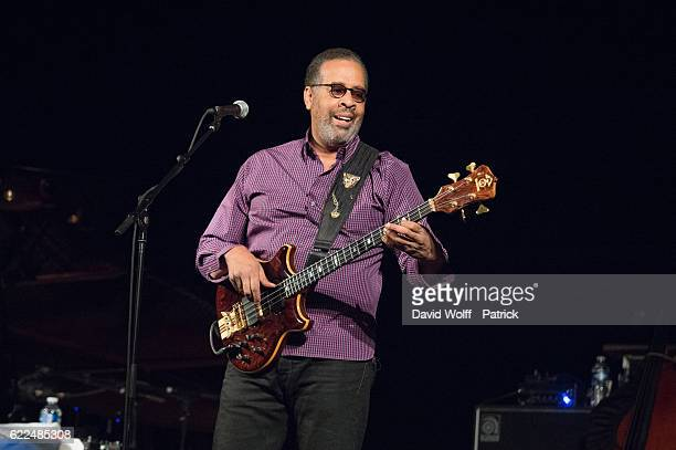 Stanley Clarke from The Stanley Clarke Band performs at Le Trianon on November 11, 2016 in Paris, France.