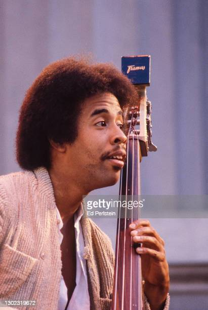 Stanley Clarke performs during the Berkeley Jazz Festival at the Greek Theatre in Berkeley, California on May 25, 1980.
