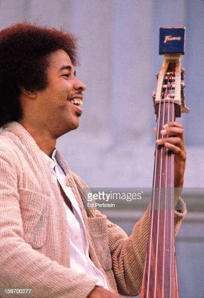 Stanley Clarke performs during the Berkeley Jazz Festival at the Greek Theatre in May 1980 in Berkeley, California.