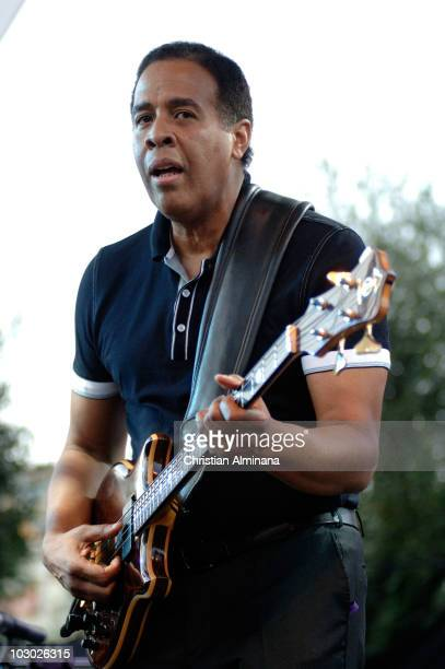 Stanley Clarke performs on stage at Nice Jazz Festival on July 21, 2010 in Nice, France.