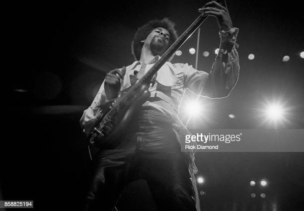 Stanley Clarke performs with The New Barbarians at The OMNI Coliseum in Atlanta Georgia. May 10, 1979