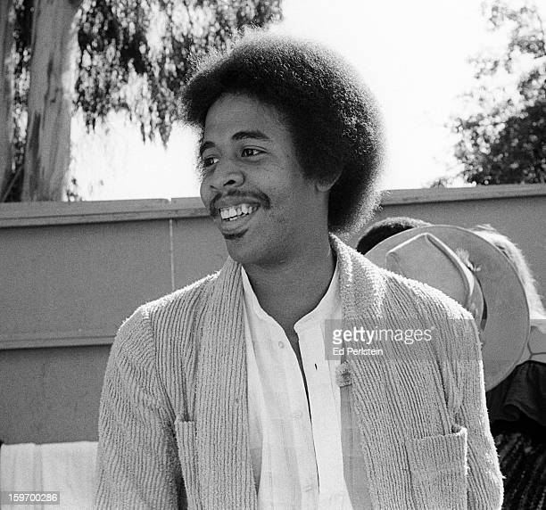 Stanley Clarke poses backstage during the Berkeley Jazz Festival at the Greek Theatre in May 1980 in Berkeley, California.