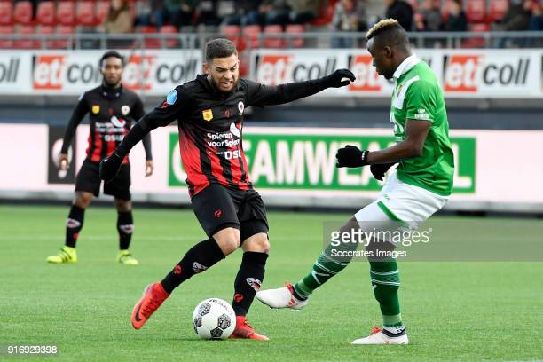 Stanley Elbers of Excelsior Thierry Ambrose of NAC Breda during the Dutch Eredivisie match between Excelsior v NAC Breda at the Van Donge De Roo...
