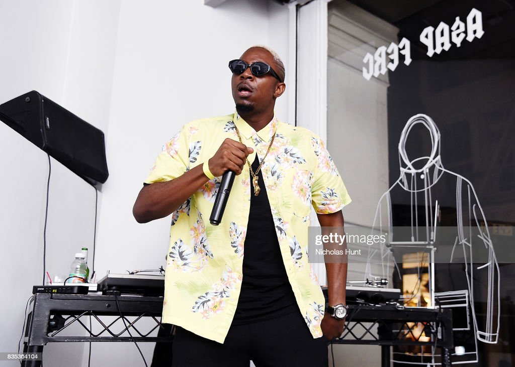 Stanley Enow performs at Pop-Up Shop launch for clothing brand UNIFORM on August 18, 2017 in New York City.