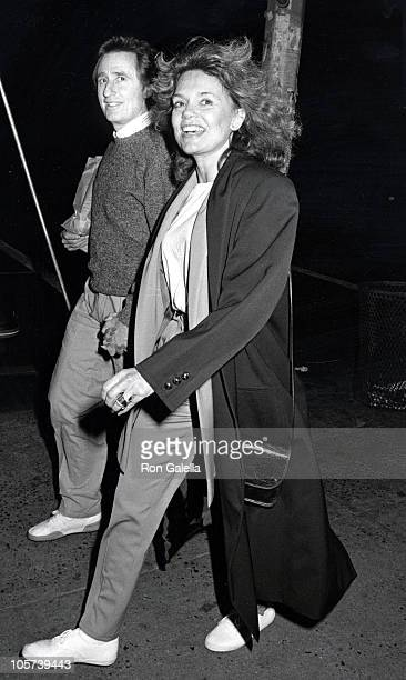 Stanley Fimberg and Dyan Cannon during Dyan Cannon Sighting at the Columbus Cafe in New York City October 5 1986 at Columbus Cafe in New York City...
