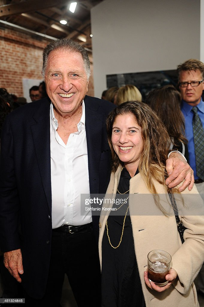 Stanley Hollander and Andrea Feldman Falcione attend The Rema Hort Mann Foundation LA Artist Initiative Benefit Auction on November 21, 2013 in Los Angeles, California.