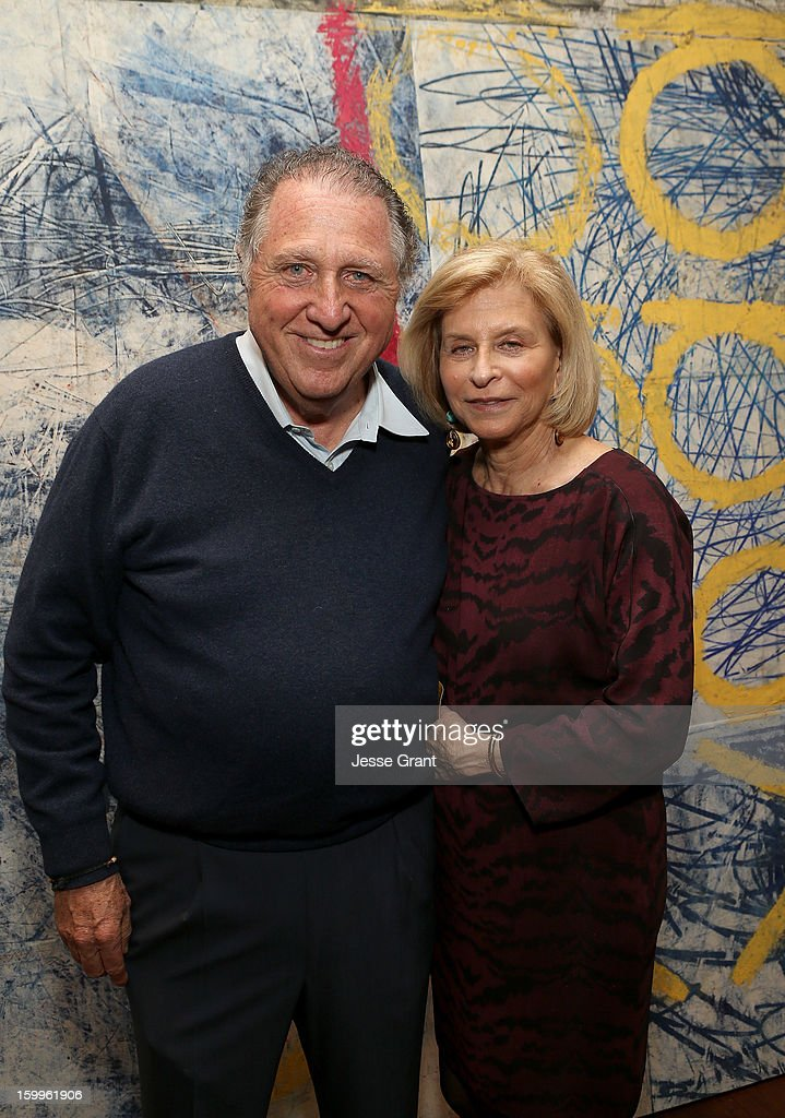 Stanley Hollander and Gail Hollander attend the Art Los Angeles Contemporary Reception at the home of Gail and Stanley Hollander on January 23, 2013 in Los Angeles, California.