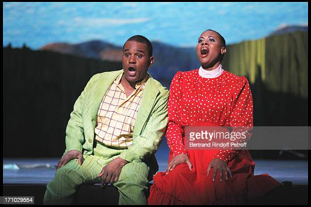 Stanley Jackson Adina Aaron at The Opening Night Of The Opera Treemonisha By Scott Jopin At The Theatre Du Chatelet In Paris