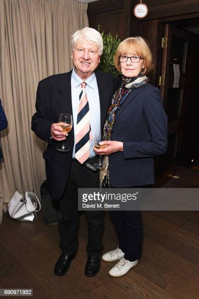 Stanley Johnson and Jennifer Kidd attend the Charity Gala screening of The Hippopotamus in support of Blue Marine Foundation and Maggie's at The May...