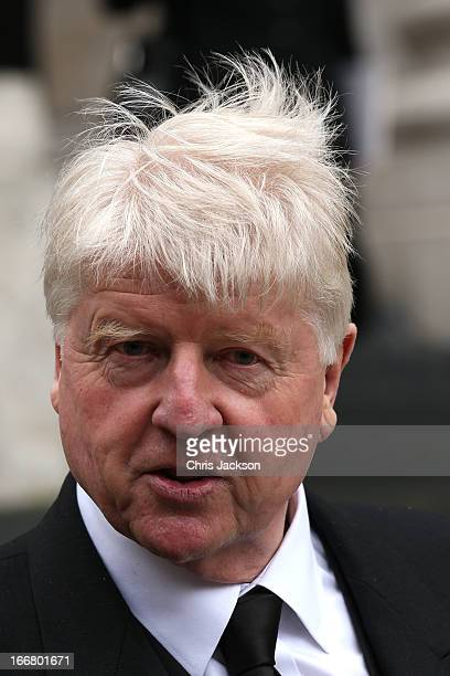 Stanley Johnson attends the Ceremonial funeral of former British Prime Minister Baroness Thatcher at St Paul's Cathedral on April 17 2013 in London...