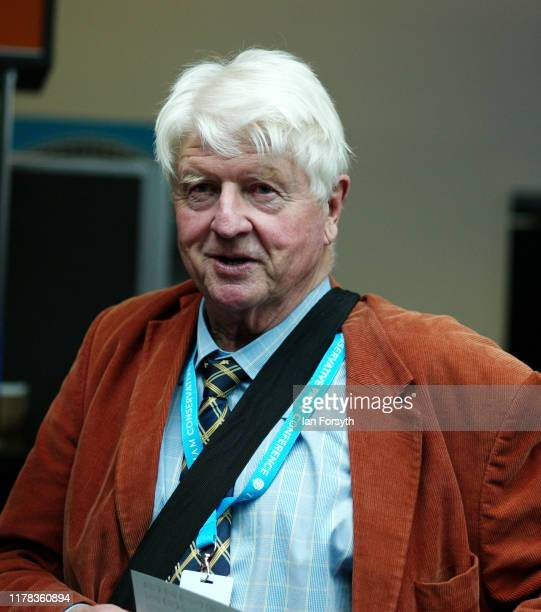 Stanley Johnson attends the third day of the Conservative Party Conference at Manchester Central at Manchester Central on October 01 2019 in...