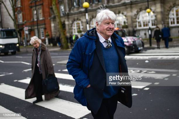 Stanley Johnson, father of British Prime Minister Boris Johnson, is seen on March 04, 2020 in London, England.
