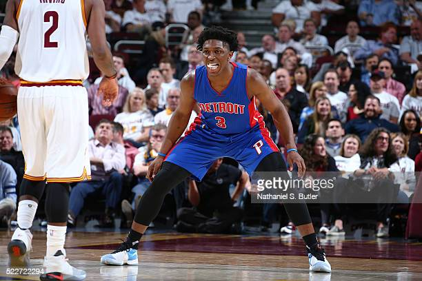 Stanley Johnson of the Detroit Pistons against the Cleveland Cavaliers in Game Two of the Eastern Conference Quarterfinals during the 2016 NBA...