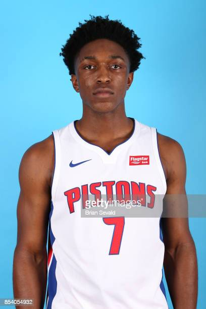 Stanley Johnson of the Detroit Pistons poses for a head shot during media day at Little Caesars Arena in Detroit Michigan on September 25 2017 NOTE...