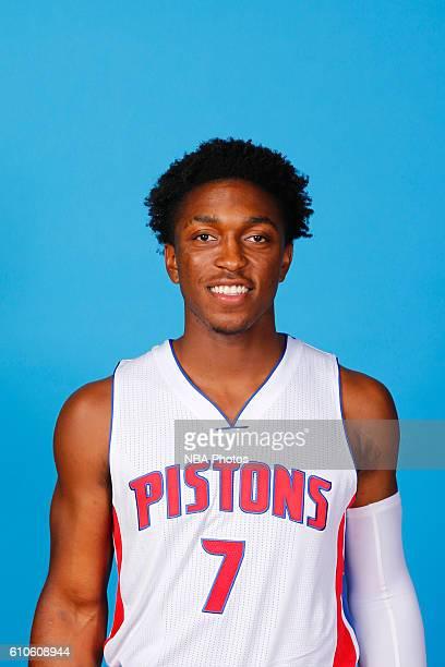 Stanley Johnson of the Detroit Pistons poses for a headshot during the 20162017 Detroit Pistons Media Day on September 26 2016 in Auburn Hills...