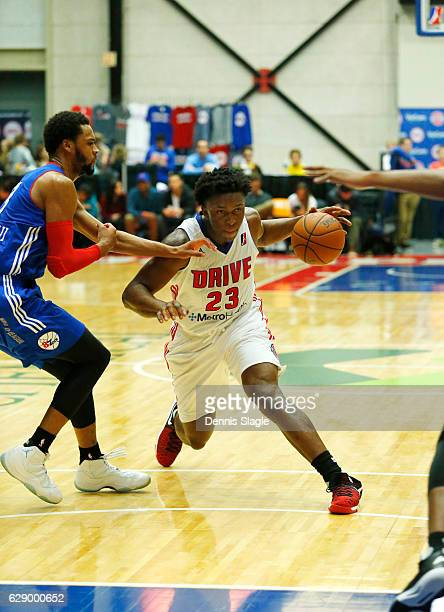 Stanley Johnson of the Grand Rapids Drive handles the ball against the Delaware 87ers at The DeltaPlex Arena on December 10 2016 in Grand Rapids...