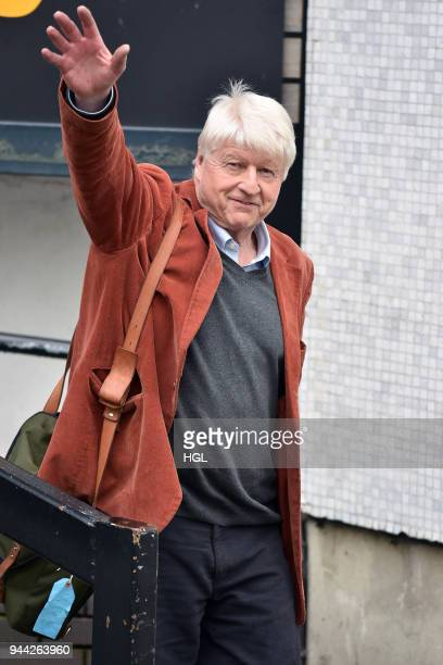 Stanley Johnson seen at the ITV Studios on April 10 2018 in London England