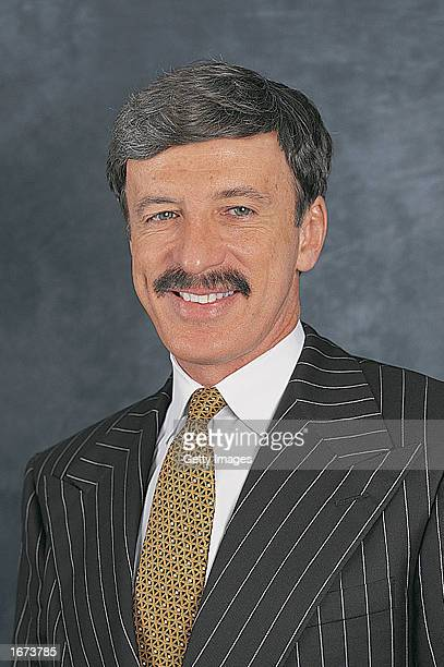 Stanley Kroenke of the Colorado Avalanche poses for a portrait on September 1 2002 at the Pepsi Center in Denver Colorado