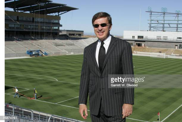 E Stanley Kroenke owner and president of Kroenke Sports and Entertainment and the Colorado Rapids poses for a photo during the Colorado Rapids...